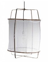 Ay Illuminate Z5 pendant lamp in bamboo and cotton - Ø 42cm x H57cm - Ay Illuminate