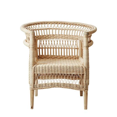 Affari of Sweden Rattan chair Boho-Chic - W77xD64xH82cm - Affari of Sweden