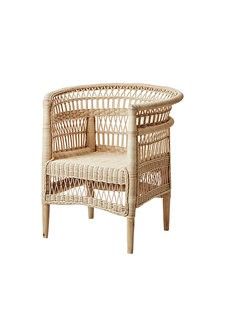 Affari of Sweden Rattan chair Boho-Chic - W77xD64xH82cm - Affari of Sweden