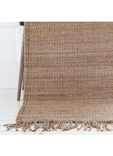 Tell me more Hemp Rug - Natural / Brown - 80x200cm - Tell Me More