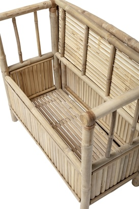 HK Living Bench bamboo - L82xH71xW42 - Bloomingville