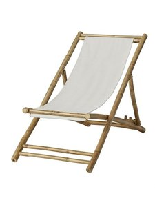Lene Bjerre Design Beach folding chair / Lounger - Bamboo / Canvas - 112x60cm - Lene Bjerre Design