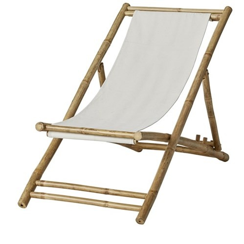 Pleasant Beach Folding Chair Lounger Bamboo Canvas 112X60Cm Lene Bjerre Design Cjindustries Chair Design For Home Cjindustriesco