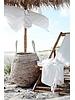Lene Bjerre Design Transat pliable de jardin Bambou / Toile - 112x60cm - Lene Bjerre Design