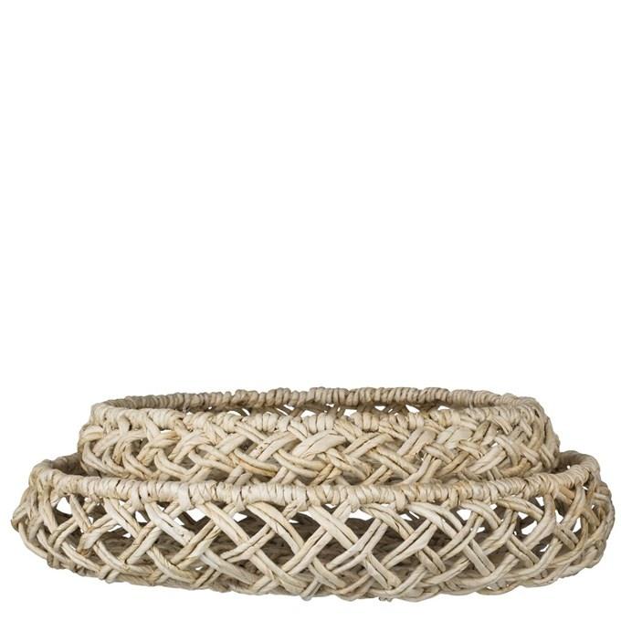 Lene Bjerre Design Set of 2 Natural (wall) baskets - Ø40X8 et Ø49X8cm - Lene Bjerre Design