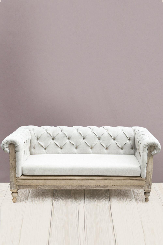 Dassie Artisan Linen Couch / Sofa - L99xW182xH78cm - Dassie Artisan