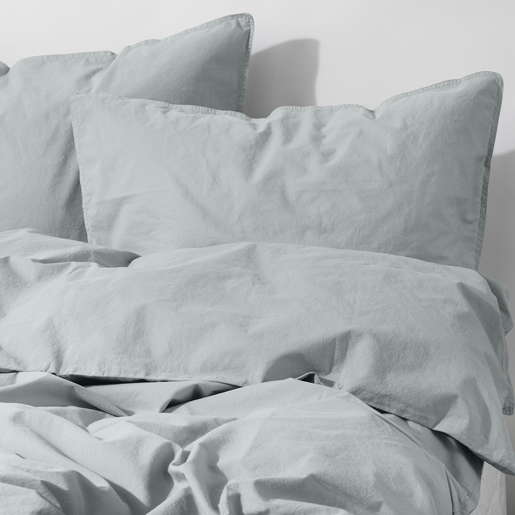 Tell me more Duvet cover 100% stonewashed cotton - 220x240 - Breeze - Tell me more
