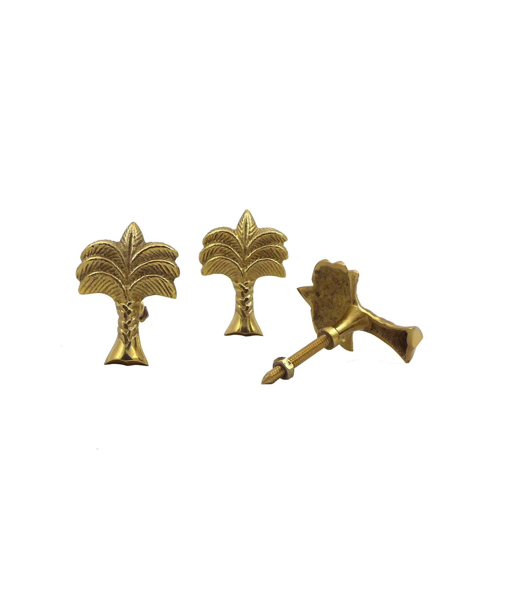 Doing Goods palmtree  doorknob - Gold shiny - Doing Goods