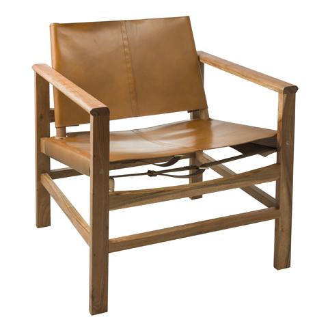 Eightmood Sweden lounge chair - Leather & Wood - H76xW69xD62 - Eightmood Sweden