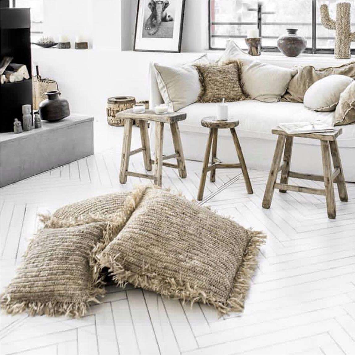 Cushion Raffia Natural - 40x40cm