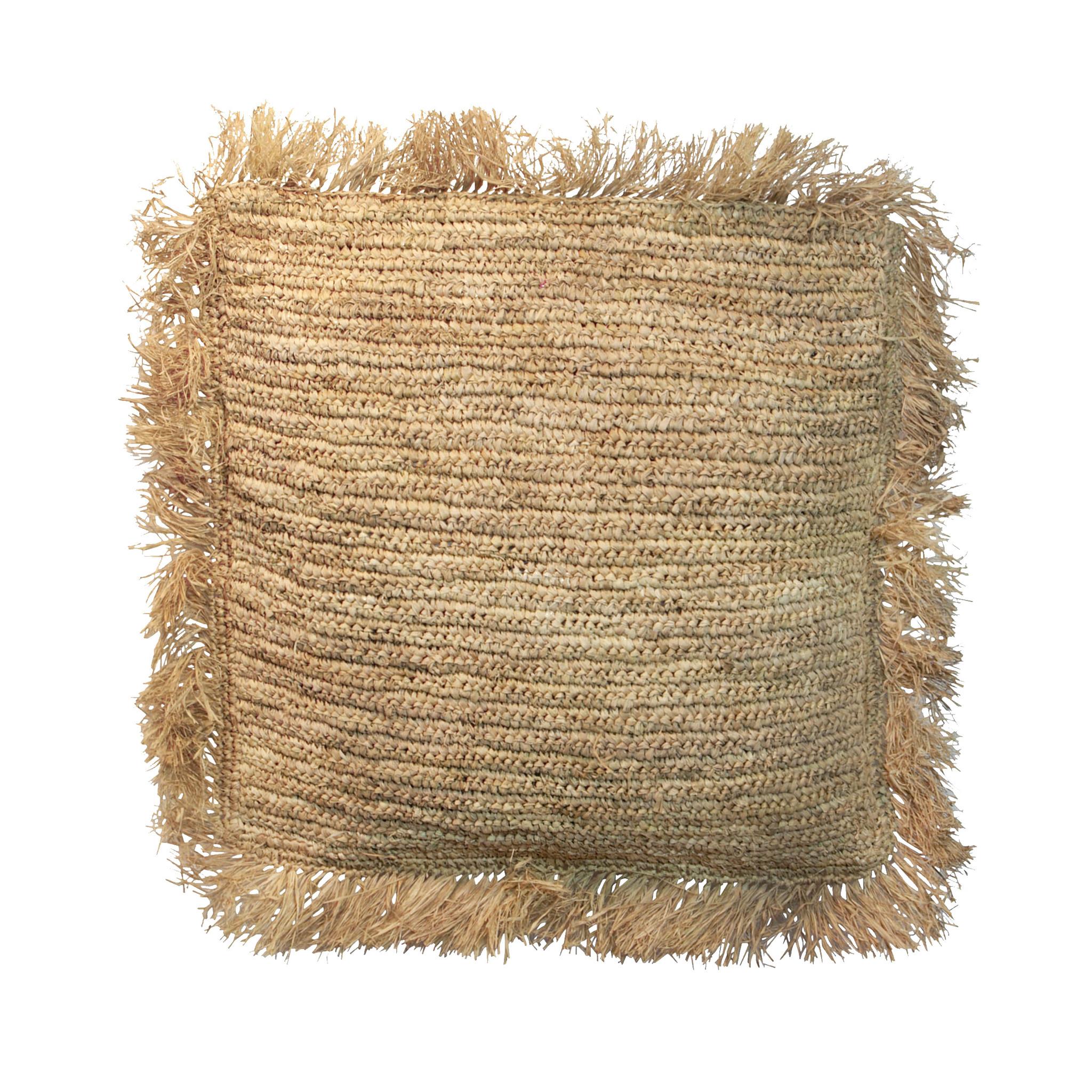 Coussin en raphia - 60x60cm - natural