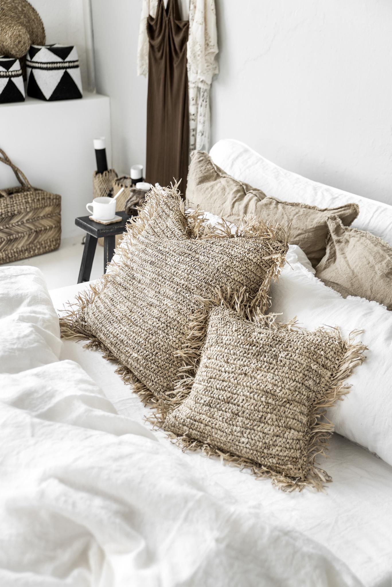Bazar Bizar Cushion Raffia Natural - 40x40cm