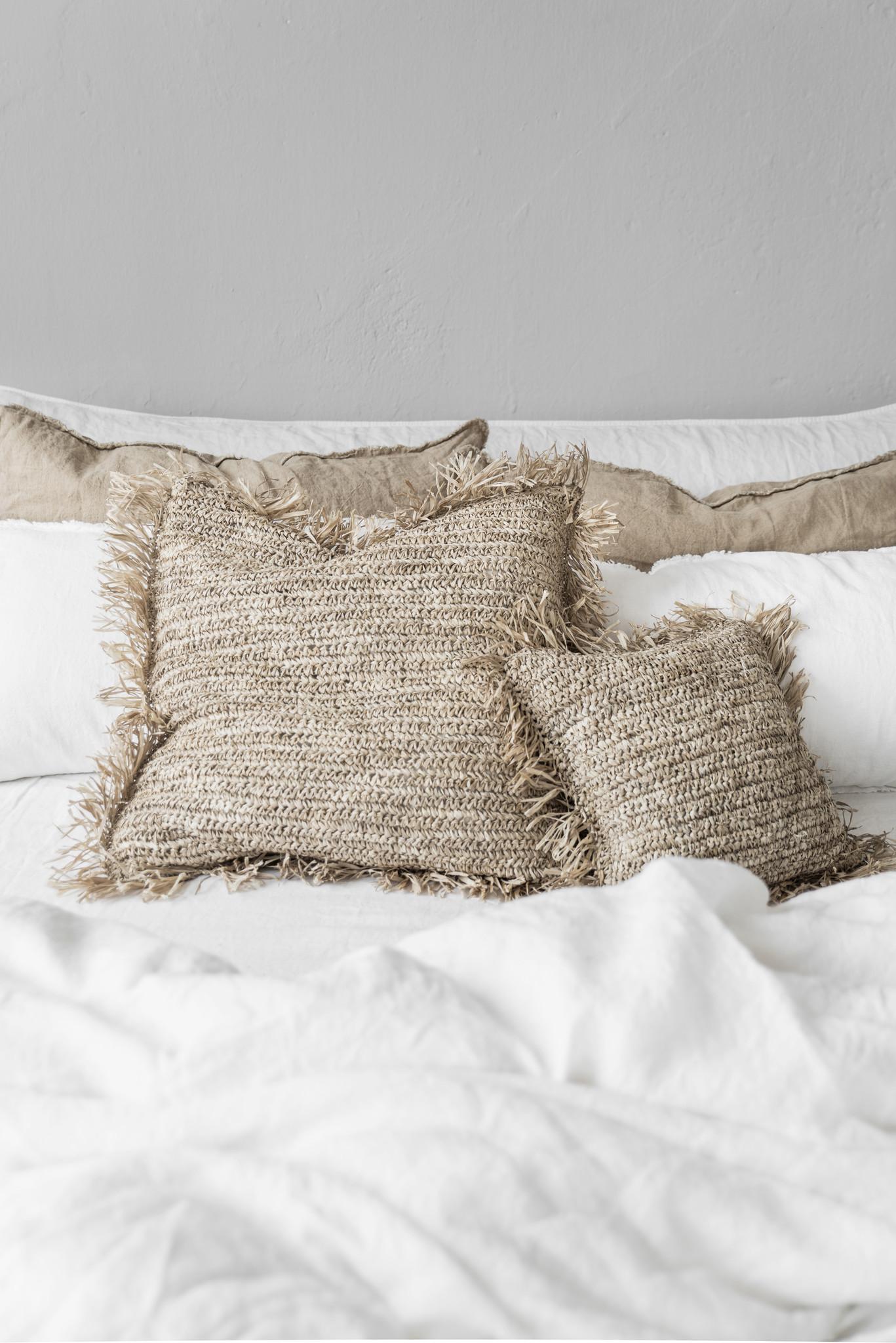 Bazar Bizar Cushion Raffia Natural - 30x50cm
