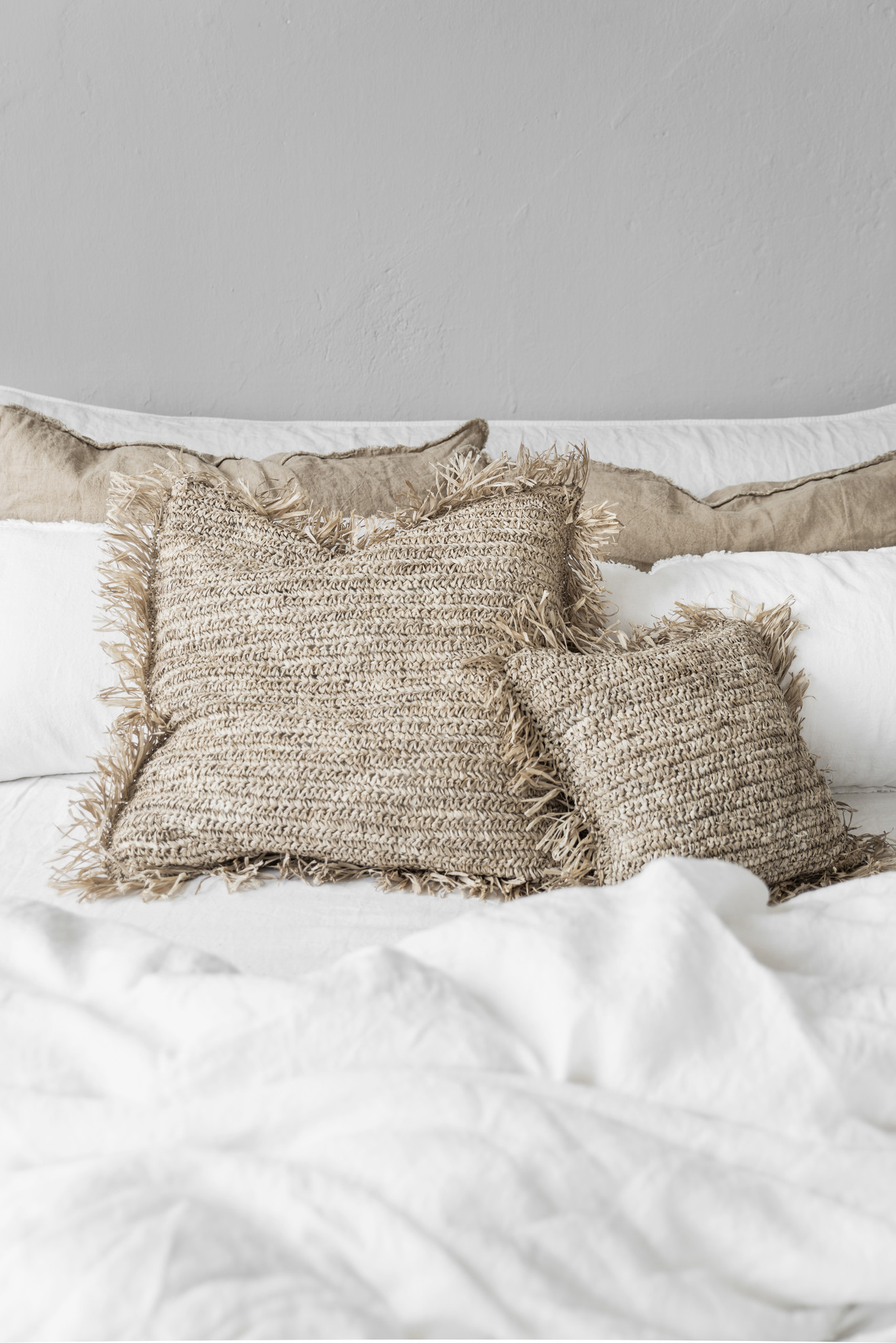 Cushion Raffia Natural - 30x50cm