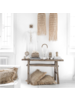 Petite Lily Interiors Suspension en rotin - naturel - Ø30xH80
