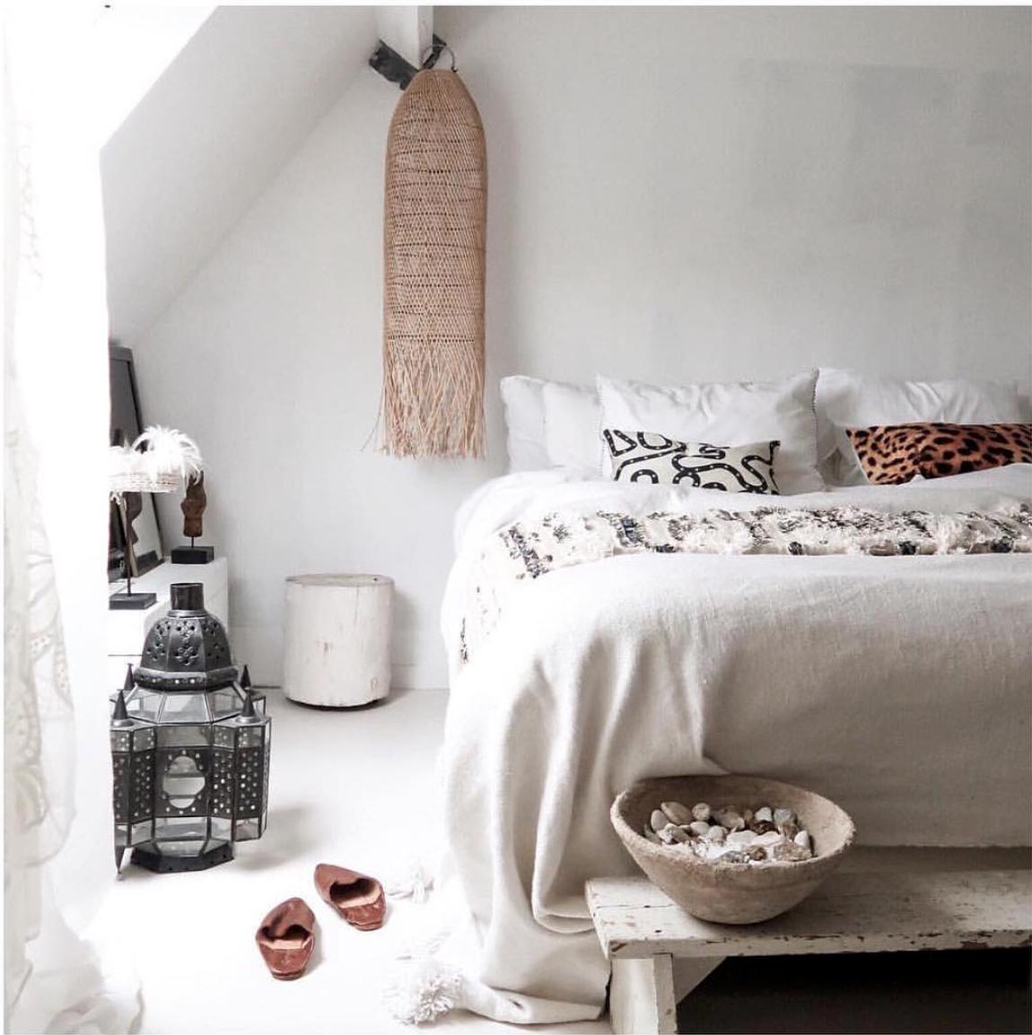 Petite Lily Interiors Lámpara de techo en rattan - natural - Ø30xH80