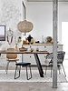 Bloomingville Raw wood Dining room table - Oak & Metal - 200xW99xH78cm - Bloomingville