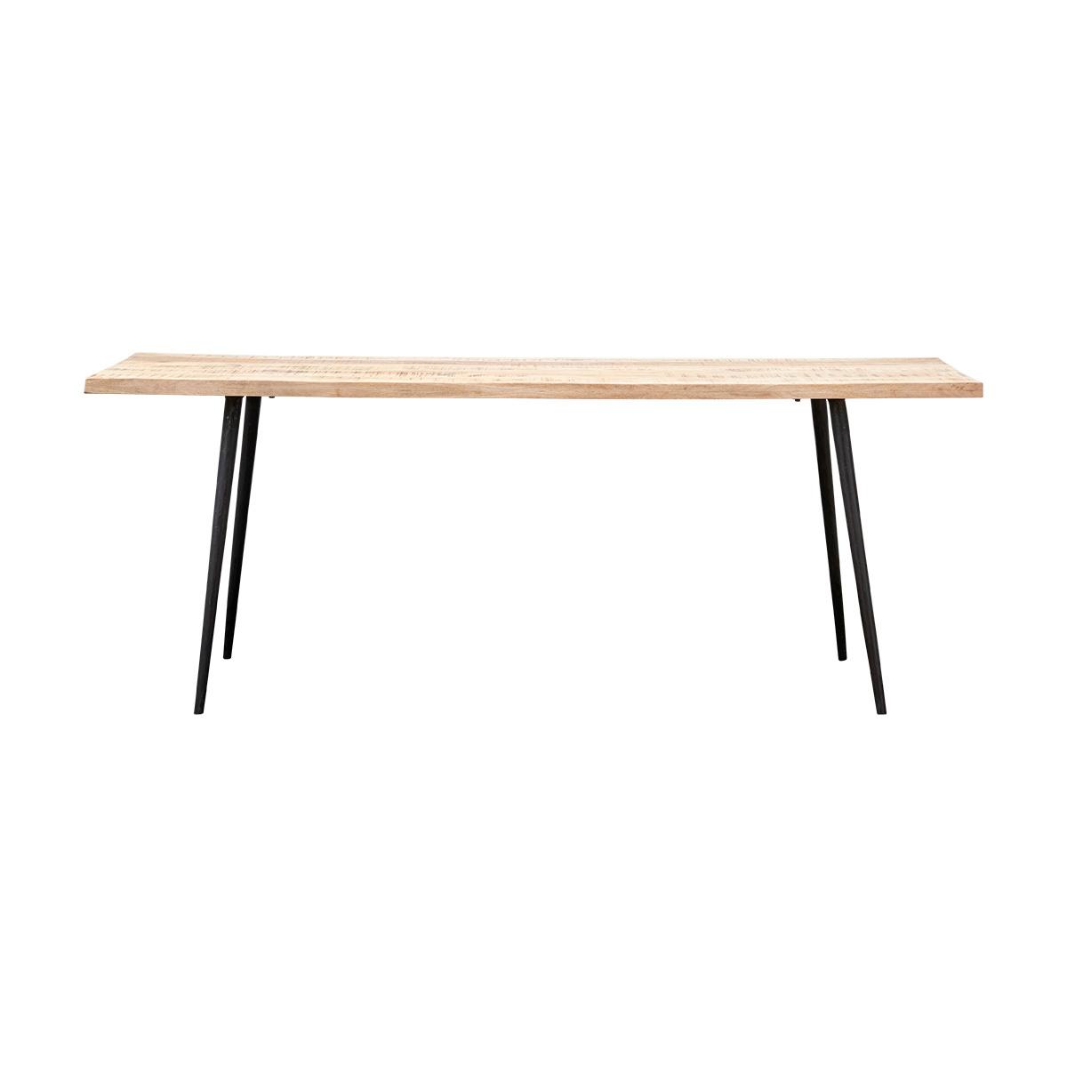 House Doctor Table de salle à manger - bois et métal - 200xW80xH76cm - House Doctor