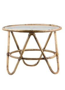 Lene Bjerre Design Rattan coffee table - Natural - Ø67x51cm - Lene Bjerre