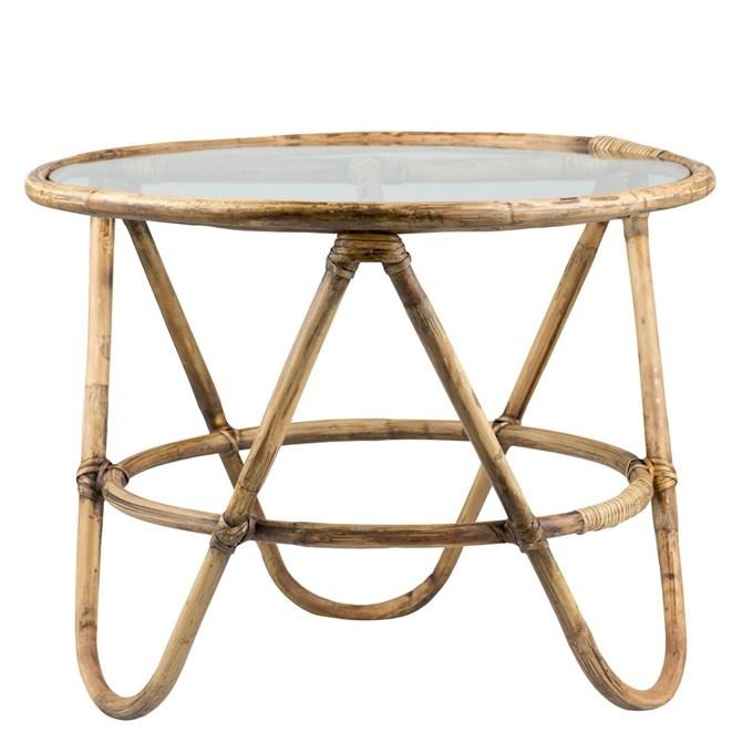 Lene Bjerre Design Table basse Rotin - Naturel - Ø67x51cm - Lene Bjerre