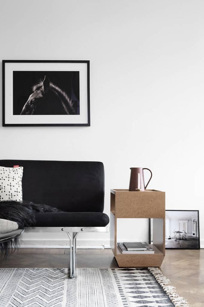 House Doctor Tapis Block - gris noir - 160x230cm - House Doctor