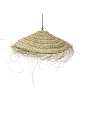 Lamp shade in woven palmleaves with fringes - Ø70 - naturel