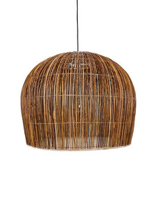 Ay Illuminate Suspension Bell Buri en fibre de palmiers - naturel - Ø85xh85cm - Ay Illuminate