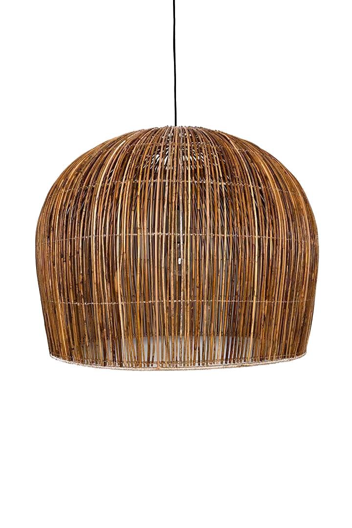 Ay Illuminate Suspension Bell Buri en fibre de palmiers - naturel - Ø85xh85cm - Ay Illuminate