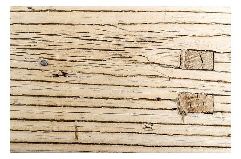 Petite Lily Interiors Banc en Bois brut - 110-125x45-55cm - Piece Unique