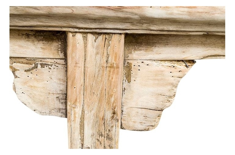 Banc en Bois brut - 110-125x45-55cm - Piece Unique