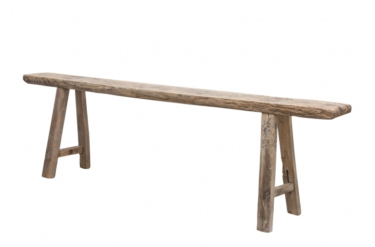 Petite Lily Interiors Bench Raw wood - 180x14xh51cm - Unique Product