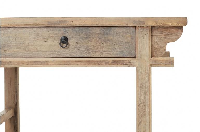 Mesa Consola  - madera cruda - 110x42x80cm - pieza única