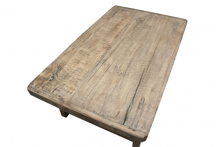 Natural coffee table XL -113x67xh43cm - Elm Wood