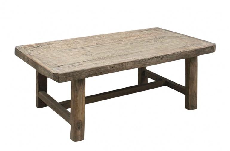 Table basse naturelle - 113x67xh43cm - Bois d'orme