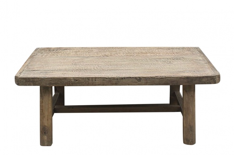Petite Lily Interiors Table basse naturelle - 113x67xh43cm - Bois d'orme