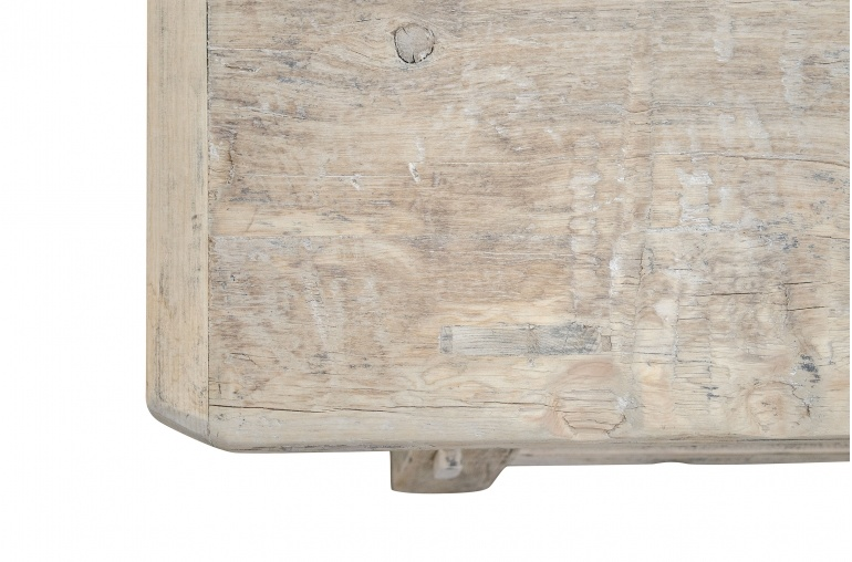 Petite Lily Interiors Table basse naturelle en bois brut - 140x54xh43cm