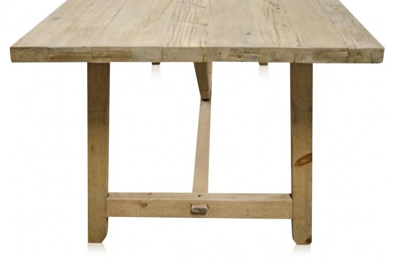 Snowdrops Copenhagen Table de salle à manger bois brut recyclé  - 220x85xH76cm  - Piece Unique