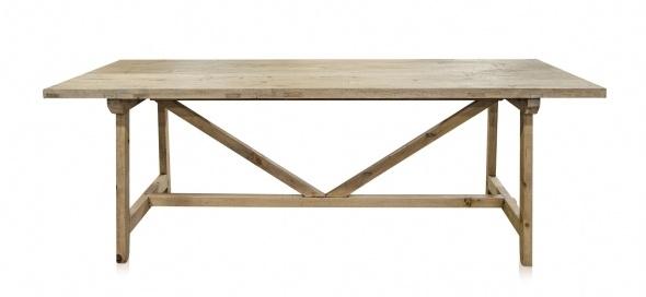 Mesa de Comedor madera cruda reciclada - 220x85xH76cm - Pieza única