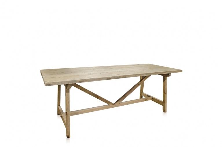 Snowdrops Copenhagen Table de salle à manger bois brut recyclé  - 270x90xH76cm  - Piece Unique