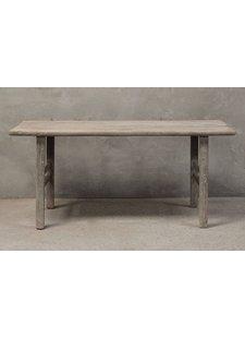 Table de salle à manger bois d'orme - 186x67xH84cm  - Piece Unique