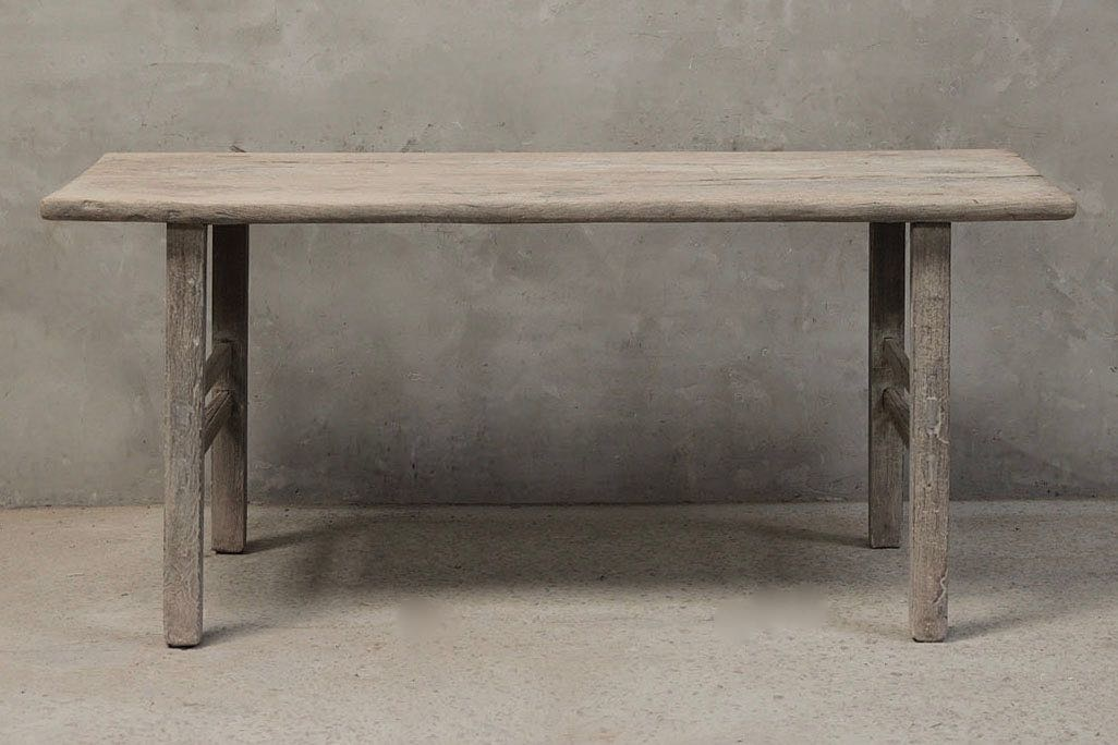 Dining room table recycled elm wood - 186x67xH84cm - unique piece