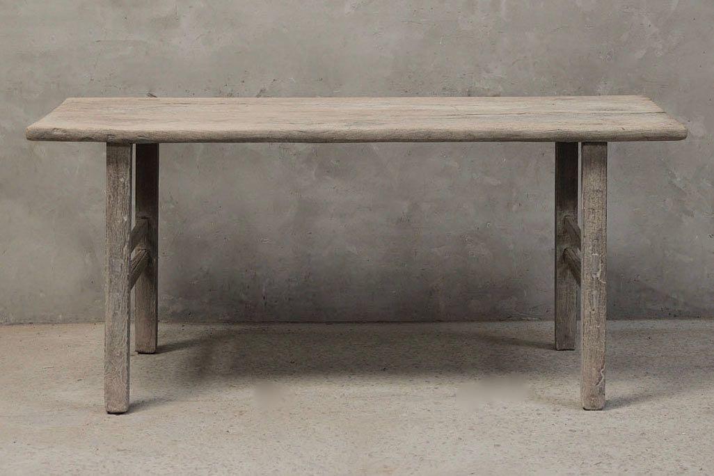Petite Lily Interiors Table de salle à manger bois d'orme - 186x67xH84cm  - Piece Unique