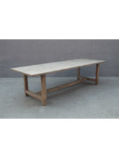Petite Lily Interiors Dining room table recycled elm wood - 268x100xh76 - unique piece