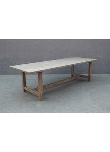 Table de salle à manger bois d'orme - 268x100xh76  - Piece Unique