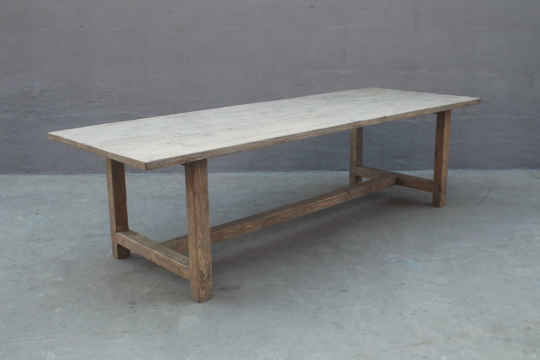 Dining room table recycled elm wood - 268x100xh76 - unique piece