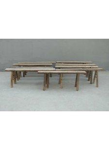 Petite Lily Interiors Bench Raw elm wood - aprox. 127x16xH50cm - Unique item