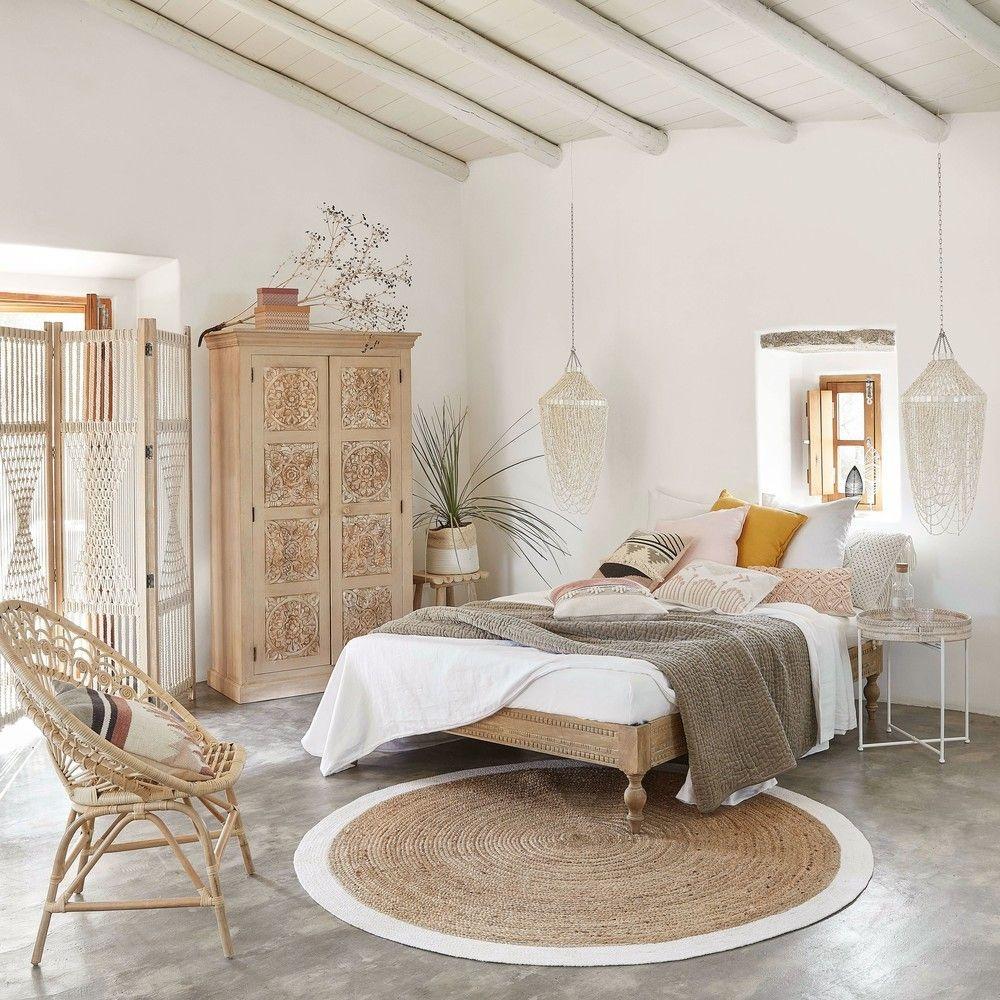 Un style harmonieux dans cette chambre à coucher au style Ethnique Scandinave  - Vu sur Pinterest