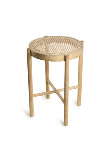 HK Living Retro webbing stool natural - Ø35xh80cm - HK Living