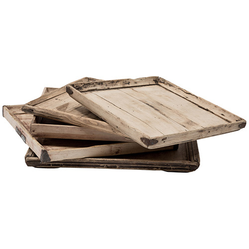 Snowdrops Copenhagen Wooden Vintage tray - 39x64x5cm - Snowdrops Copenhagen