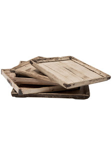 Snowdrops Copenhagen Wooden Vintage tray - 39x39x5cm - Snowdrops Copenhagen